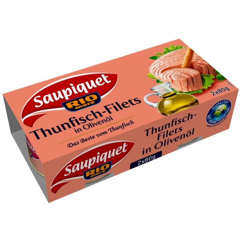 Saupiquet Thunfisch-Filets in Olivenöl 2x 80 g