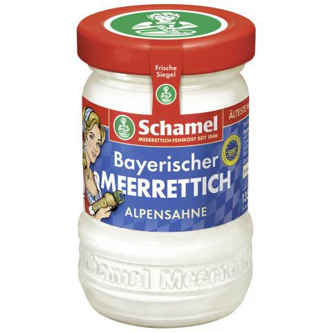 Schamel Bayrischer Alpensahne Meerrettich im Glas 135 g