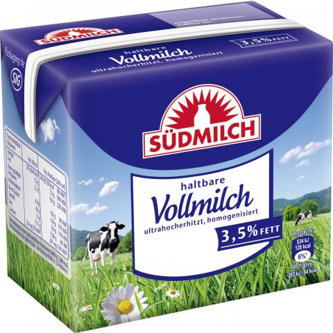 Südmilch Campina haltbare Milch mit 3,5 % Fett 0,5 ltr