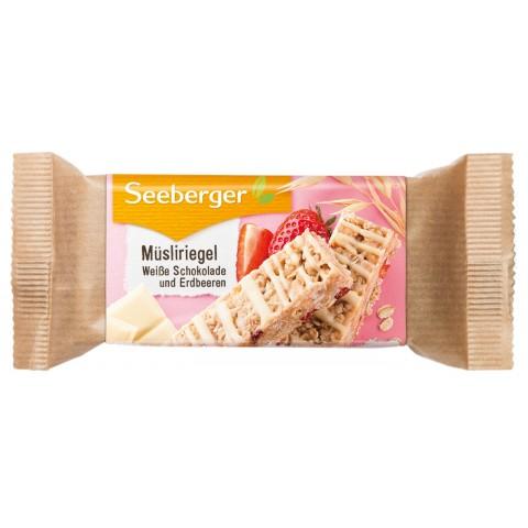Seeberger Müsliriegel Weiße Schokolade und Erdbeeren 50 g