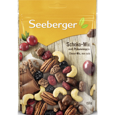Seeberger Schoko-Mix mit Pekannüssen 150 g