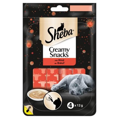 Sheba Creamy Snacks mit Rind