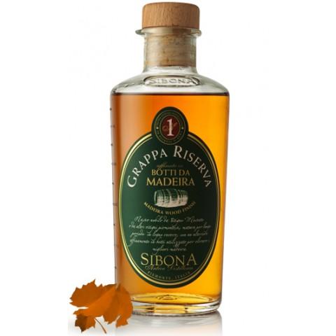 Sibona Grappa Riserva Madeira in einer Geschenkdose