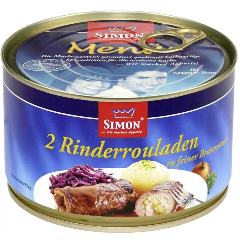 Simon 2 Rinderrouladen in pikanter Sauce