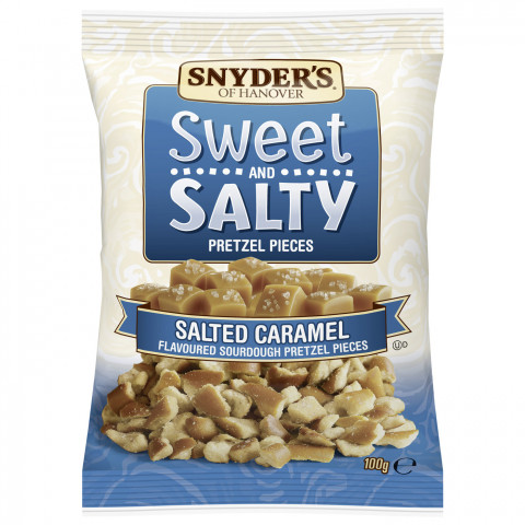 Snyders of Hanover Sweet & Salty Pretzel Pieces Salted Caramel 100G