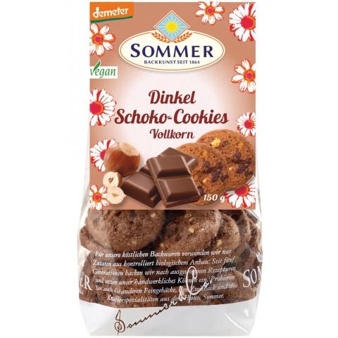 Sommer Demeter Dinkel Schoko Vollkorn-Cookies