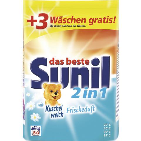 Sunil 2in1 Vollwaschmittel Pulver 1,215kg 15+3WL