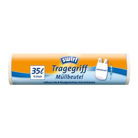 Swirl Tragegriff-Müllbeutel 35l