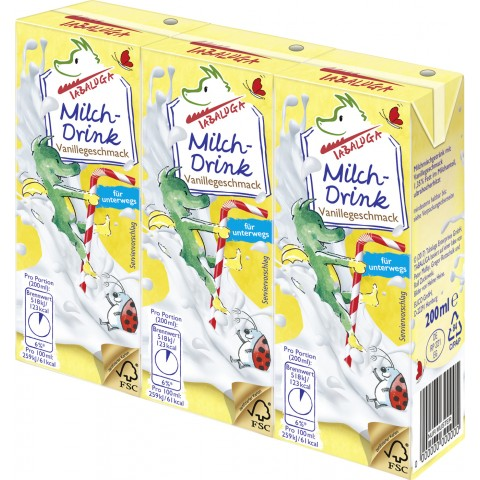 Tabaluga Milchdrink Vanillegeschmack 3x 200ml