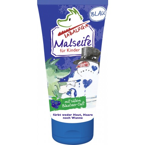 Tabaluga Malseife für Kinder blau mit süßem Blaubeer-Duft 75 ml