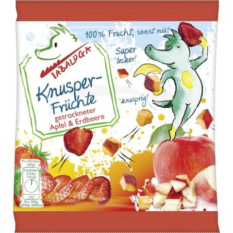 Tabaluga Knusper-Früchte getrockneter Apfel & Erdbeere 20 g
