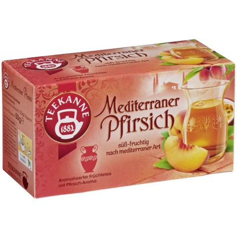 Teekanne Tee Mediterraner Pfirsich 20ST 50G