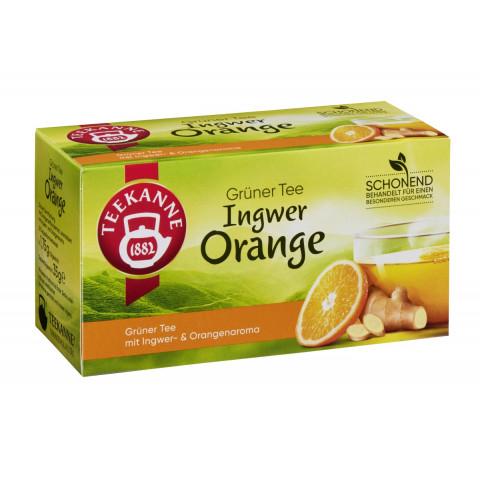 Teekanne Grüner Tee Orange und Ingwer 20ST 35G