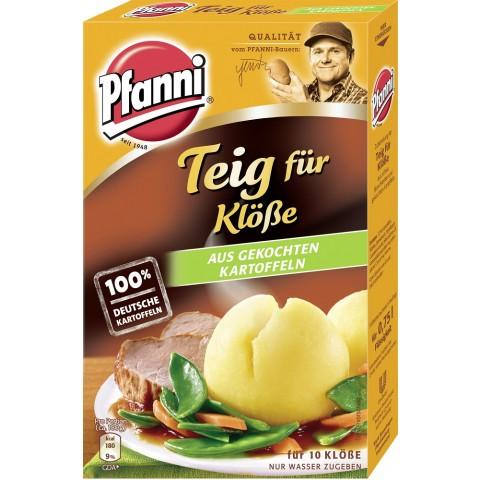 Pfanni Teig für Klöße aus gekochten Kartoffeln für 10 Stück