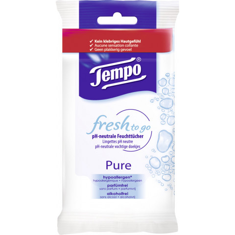 Tempo Fresh to go Pure Feuchttücher 1 x 10 Tücher