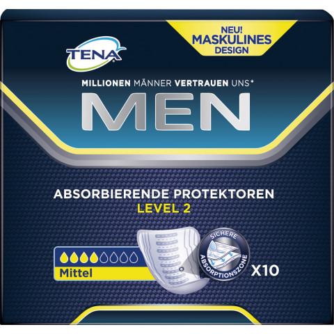 TENA Men Absorbierende Protektoren Level 2 10 Stück