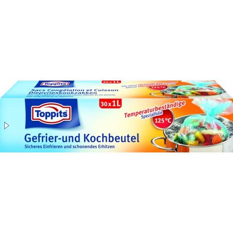 Toppits Gefrier- und Kochbeutel 1L