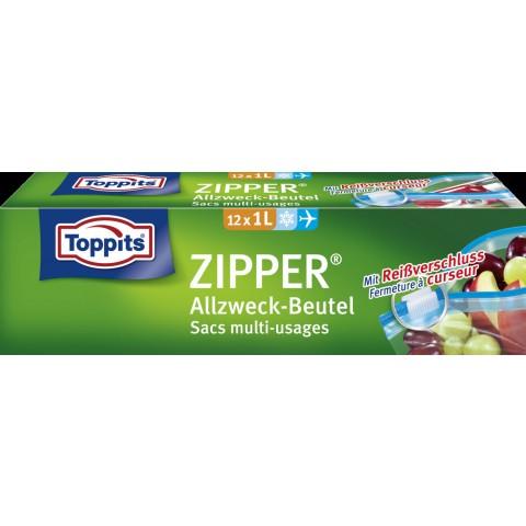 Toppits Zipper Allzweck-Beutel 1L 12 Stück