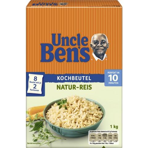 Uncle Ben´s Natur Reis im Kochbeutel 10 Minuten