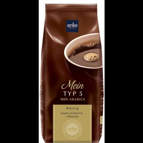 Arko Kaffee Mein Typ 5 Würzig gemahlen 500g