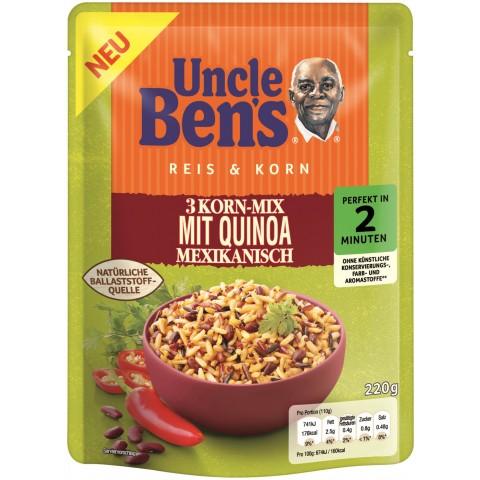 Uncle Ben´s Reis & Korn 3-Korn-Mix mit Quinoa Mexikanisch 2 Minuten 220g