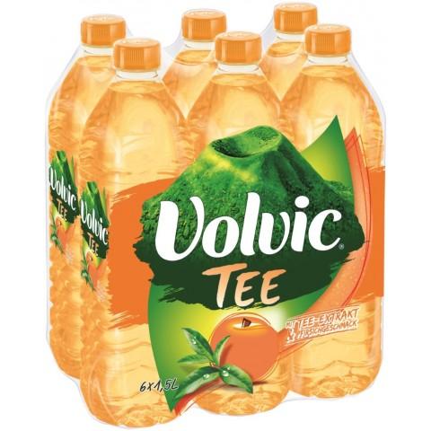 Volvic Tee mit Pfirsich-Geschmack PET Sixpack