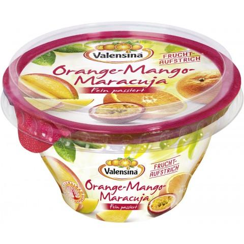 Valensina Fruchtaufstrich Orange-Mango-Maracuja fein passiert