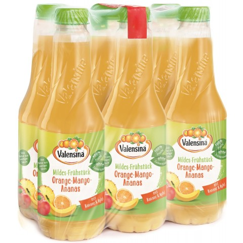 Valensina Mildes- Frühstück Orange- Mango-Ananas 6x 1 ltr PET