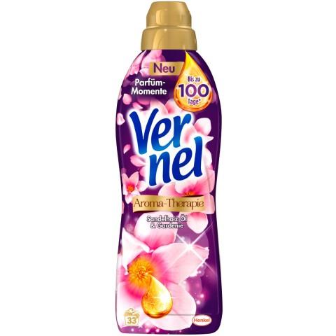 Vernel Aroma-Therapie Sandelholz-Öl & Gardenie Weichspüler 1 ltr 33 WL