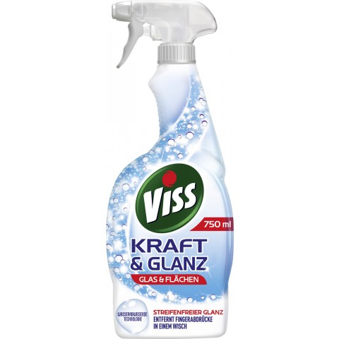 Viss Kraft & Glanz Glas & Flächen Sprayflasche 0,75 ltr