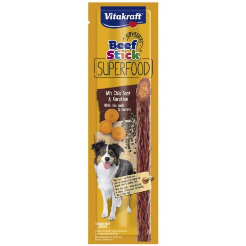 Vitakraft Beef Stick Superfood mit Chia Saat & Karotten 25G