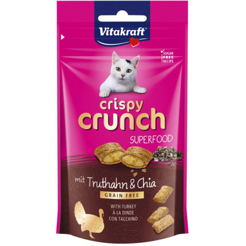 Vitakraft Crispy Crunch Superfood Truthahn & Chia 60G