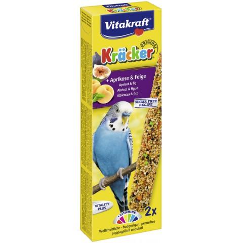 Vitakraft Kräcker Aprikose & Feige für Wellensittiche 2x 30 g