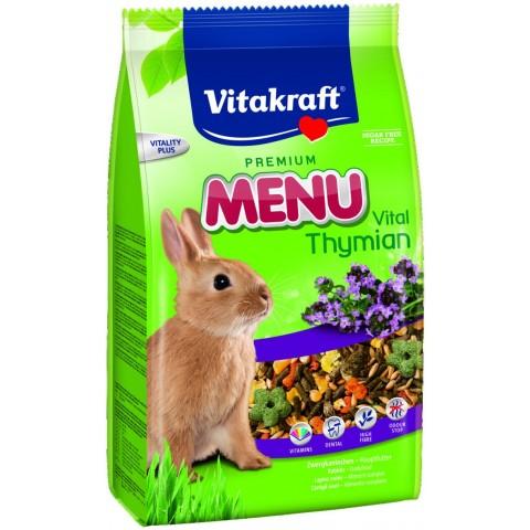 Vitakraft Zwergkaninchenfutter Premium Menu Vital Thymian 1 kg