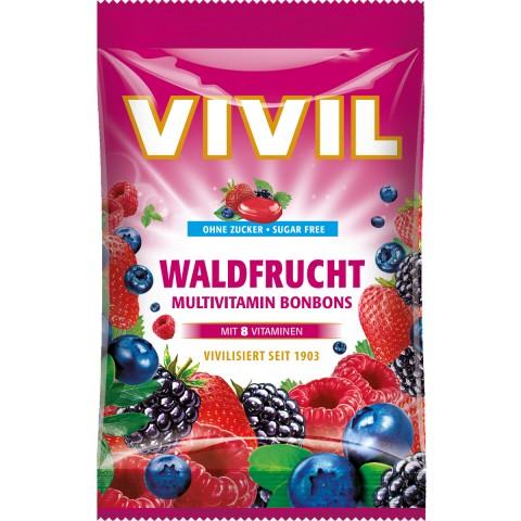 Vivil Waldfrucht Multivitamin Bonbons zuckerfrei 80 g
