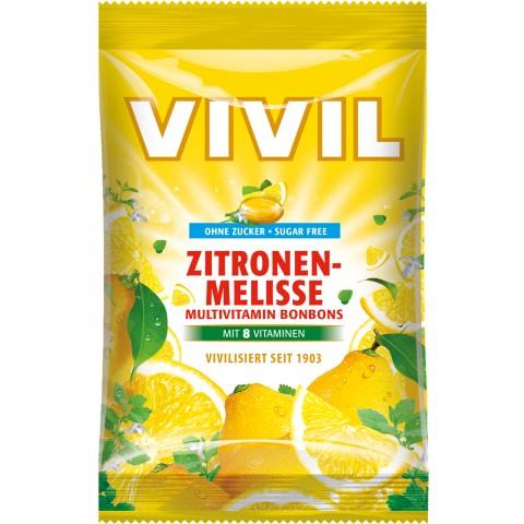 Vivil Zitronenmelisse Multivitamin Bonbons zuckerfrei 80 g