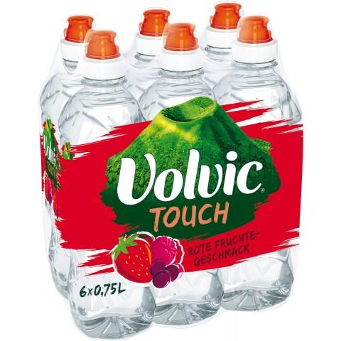 Volvic Touch Rote Früchte PET 6x 0,75 ltr