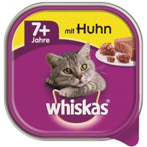 Whiskas 7+ mit Huhn Katzenfutter nass
