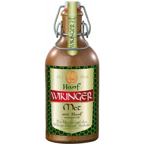 Wikinger Met mit Hanf natürtrüb im Tonkrug 0,5 ltr