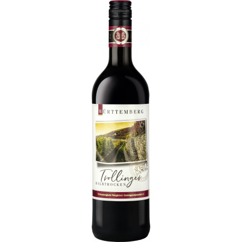 WZG Württemberger Trollinger Rotwein halbtrocken 0,75 ltr