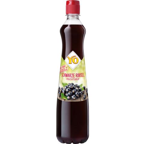 YO Schwarze Ribisel Fruchtsirup 0,7L
