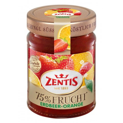 Zentis 75% Frucht Erdbeer-Orange Fruchtaufstrich