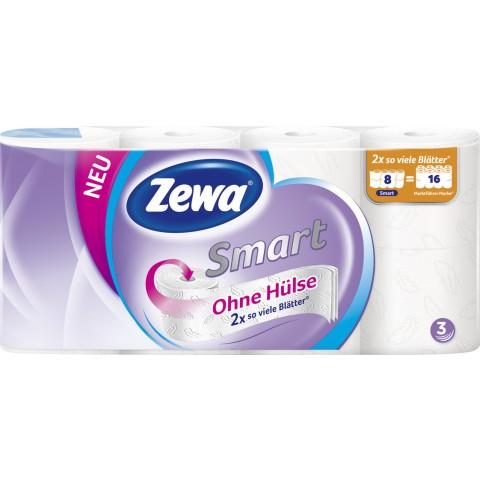 Zewa Smart Toilettenpapier 3-lagig weiß 8x 300 Blatt