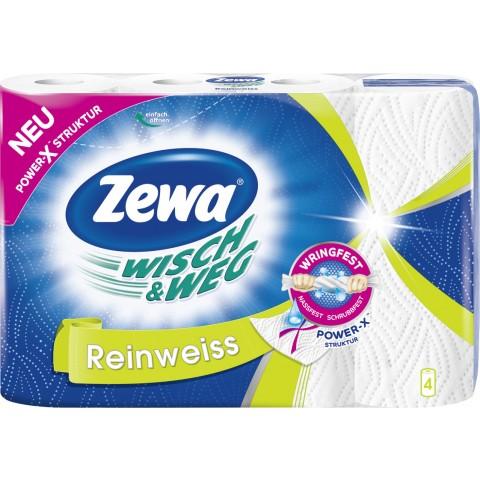 Zewa Wisch & Weg Küchentücher Reinweiss 4x 45 Blatt