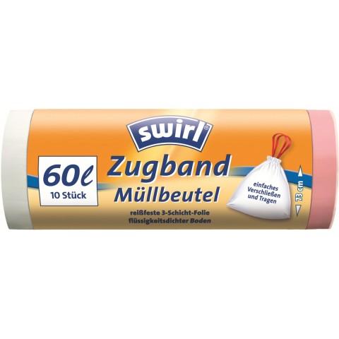 Swirl Zugband-Müllbeutel 60 l