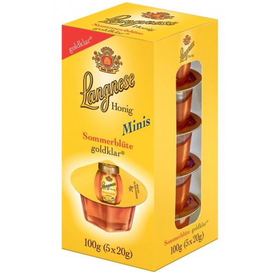 Langnese Minis Sonnenblüte Honig goldklar 5x 20 g