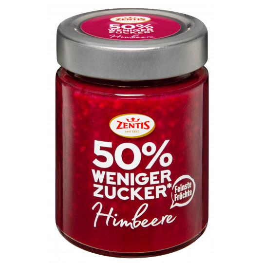 Zentis 50% weniger Zucker Fruchtaufstrich Himbeere  MHD 8.11. 195 g