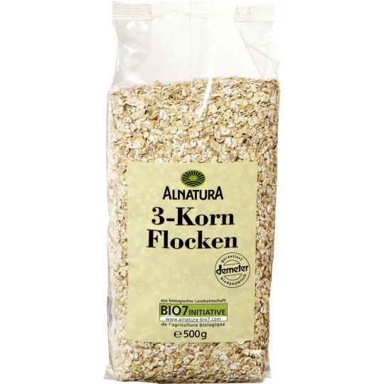 Alnatura Bio 3-Korn-Flocken 500 g
