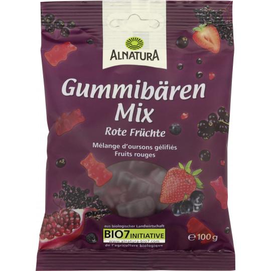 Alnatura Bio Gummibären Mix Rote Früchte 100G