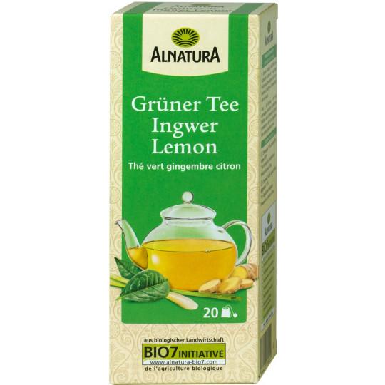 Alnatura Bio Grüner Tee Ingwer Lemon 20x 1,5G